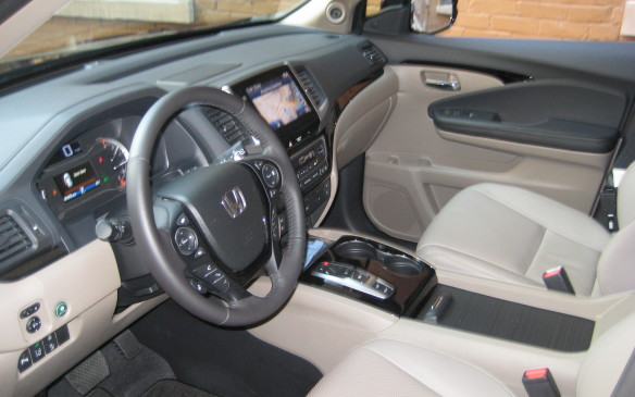 <p>The redesigned interior of the new Pilot is loaded with comfort and convenience amenities. On the base LX model, heated front seats, front wiper de-icer, remote engine start, proximity key entry, pushbutton start, Bluetooth and multiple charging USB ports, including two with high-speed charging capabilities, are standard. Stepping upscale, added or available features include leather-trimming, heated and ventilated seats with power adjustment and memory, heated second-row (outboard) seats or heated second-row captain's chairs, panoramic sunroof with separate sliding shades, rear DVD player with Blu-Ray capabilities and second-row seats that fold forward at the touch of a button to provide easy access to the third row.</p>