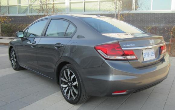2013 Honda Civic sedan - rear 3/4 view