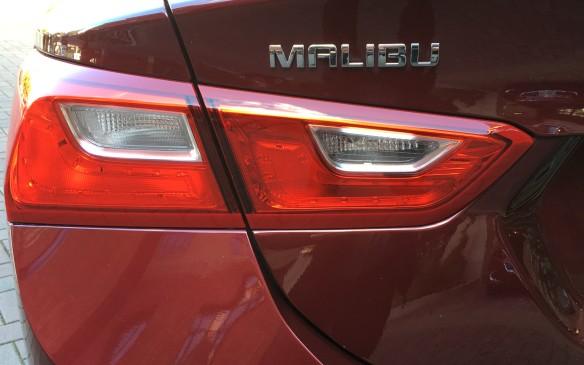 <p>Stylish new taillights freshen the rear of the Malibu.</p>