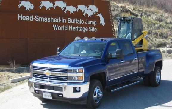 2015 GMC Sierra - hauling a heavy payload