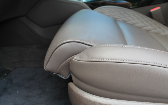 <p>I found the seats to be very comfortable. The front seats have extenders that not only move forward to lengthen the seat but curl upward a little at the end to fit better under the knees.</p>