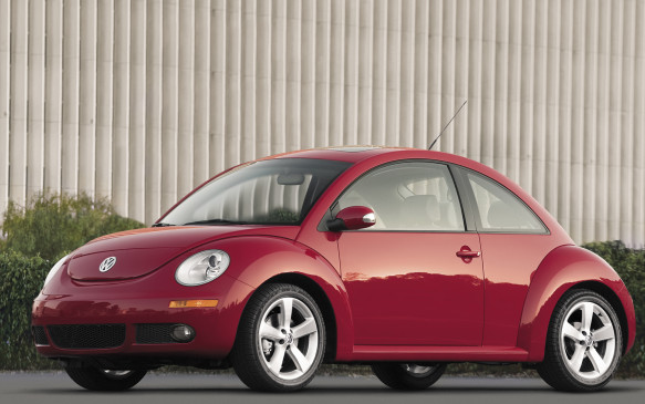 <p><strong>2006-10 Volkswagen New Beetle</strong></p> <p>Volkswagen's New Beetle represented the artful marriage of the beloved Bug shape with the front-drive Golf platform. To retain the proportions of the scabrous Beetle, its arched roofline afforded warehouse-sized headroom up front, but left the back seat wanting. There were four seatbelts, not five, and the hatchback provided just 12 cubic feet of cargo space (a soft-top convertible arrived for 2003). Constrained by its iconic shape, the New Beetle received a mild update for 2006, largely consisting of a redesigned instrument panel and some chrome trim.</p>