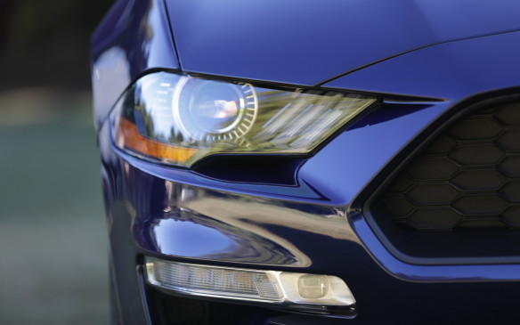 "<p>The amber light marker trim you can see on this North American car doesn't exist in Europe. ""They really don't like amber,"" says Widmann.</p>"