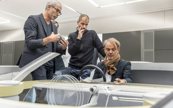 "<p>""Technology is going to make significant advances, opening up fantastic new possibilities that will allow us to offer the driver even more assistance for an even more intense driving experience,"" says Adrian van Hooydonk, Head of BMW Group Design, seen seated here.</p>"