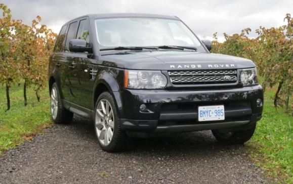 2012 Range Rover Sport - front 3/4 view