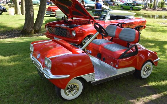 <p>Corvette-styled golf cart</p>