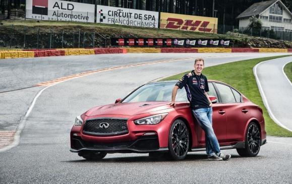 Infiniti Q50 Eau Rouge at Eau Rouge with Sebastian Vettel