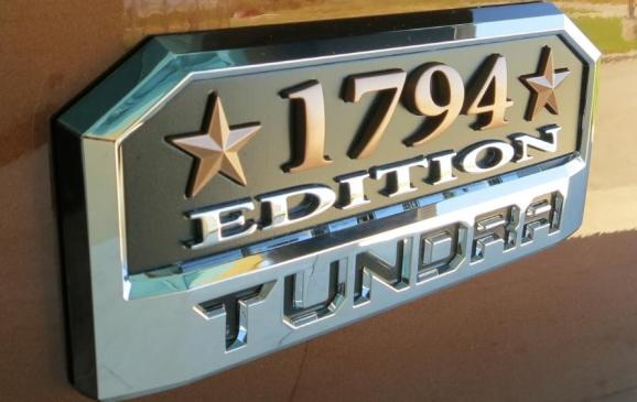 2014 Toyota Tundra - 1794 badge detail