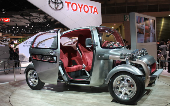 <p>Toyota created the Kikai as a design concept, just to see what it might look like. Don't ever expect to see it on the road.</p>