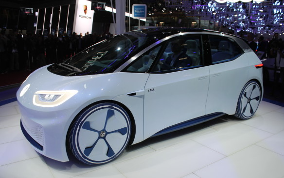 <p>One of the most radical cars in Paris this month was the Volkswagen I.D. – a completely electric vehicle that is the first VW designed for completely autonomous driving. It's scheduled to go into production in 2020.</p>