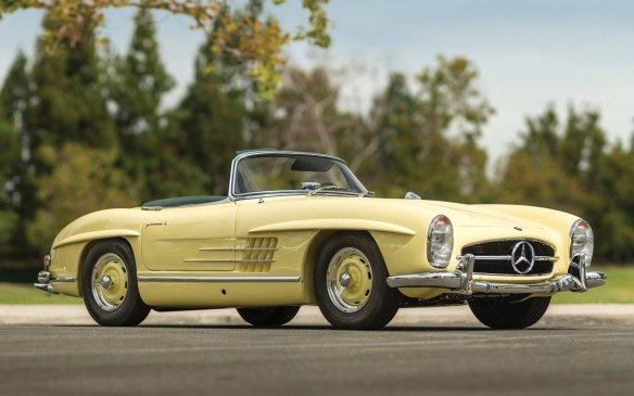 <p>The open-topped version of Mercedes Benz's iconic 300 SL gullwing coupe never attained the level of cachet its closed counterpart commanded but it was in most respects every bit as desirable a well as being more practical. This example is one of just five originally finished in its distinctive Fantasy Yellow colour. The fantasy could be yours for an estimated <strong>$1.25-to-$1.5-million</strong> (USD) at RM Sotheby's.</p>