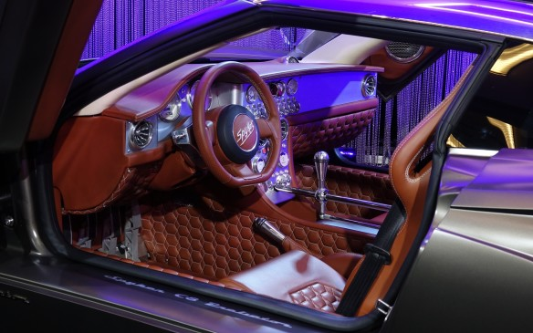 <p>Spyker claims that the new C8 Preliator's is more spacious inside but its cabin is still designed in the same outlandish, baroque style that is typical for the Dutch carmaker. Quilted leather and aluminium trim are in abundance. The leather is available in 14 colours but can be ordered in any other shade.</p>