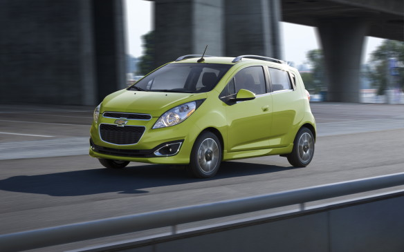 <p><strong>2015 Chevrolet Spark LS</strong></p> <p>MSRP: $12,145</p> <p>Like its larger Sonic cousin, the teeny Chevy Spark is a real, although often overlooked, player in the field, largely because of its tiny 1.2-litre four-cylinder engine that only produces 84 horsepower. On paper, that doesn't sound like much, but gearing in the five-speed manual transition provides some compensation. The optional CVT is appreciated more for its accelerative assist than as a fuel-economy aid. The Spark also offers 10 airbags, a Wi-Fi hotspot, power windows and mirrors and 15-inch alloy wheels, with air conditioning a standalone option.</p>