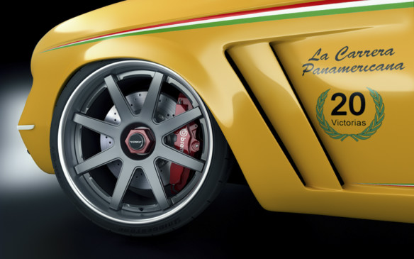 <p>The Veinte Victorias cars will employ a steel tube-frame chassis, Brembo HPK brakes and race-car level suspension components. The 19-inch wheels – 8½ inches wide in front, 11 in the rear – are designed by GWA and fitted with Bridgestone tires,</p>