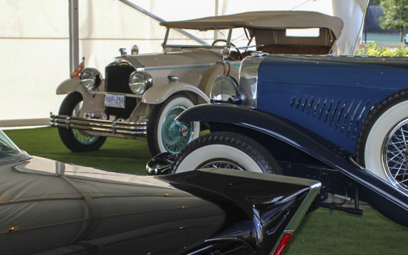 <p>The 59's fins were the ultimate evolution of those on the exclusive 1957 Eldorado Brougham shown here, which was part of a display only Museum class. Behind the Caddy is another Duesenberg Model J and in the background a 1928 McLaughlin-Buick.</p>