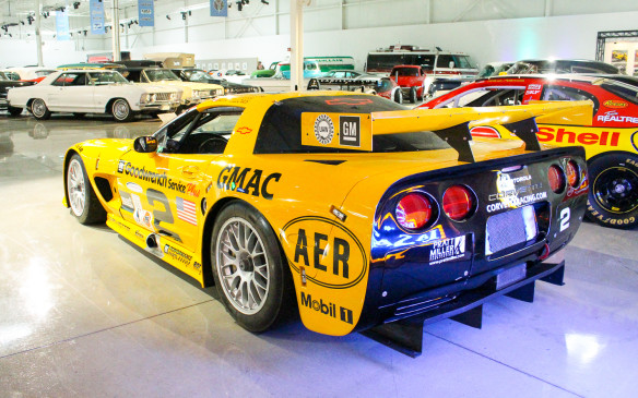 <p>Corvettes have been at the core of GM's racing programs almost from their inception. This 2001 purpose-built Corvette CR-5 racer was driven by Ron Fellows, both in the North American ALMS series and at Le Mans, where it won its class.</p>
