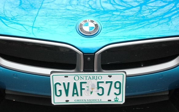 <p>There's no aesthetically pleasing way to install a front licence plate in jurisdictions that require them. But at least in the province of Ontario the i8 qualifies for a Green Plate, which means you can use HOV lanes even if the driver is the only occupant.</p>