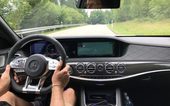 <p>Inside the cabin, the front fascia is now dominated by two display screens, one behind the steering wheel for the instrument cluster and the other beside it in the centre. It gives the effect of one large screen that ends at the glove box. This display is an option on the new E-Class, but standard on the S-Class.</p>
