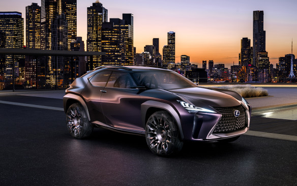 <p><strong>Lexus UX Concept –</strong> This is one dramatic look at what a luxury compact crossover could be. Its muscular exterior design surrounds a four-seat interior that looks like something out of a superhero film. Though the woven-ribbon seats are impractical and the three-dimensional interactivity system is likely a ways off yet, this brave vision says a great deal about how Lexus sees itself as a brand.</p>