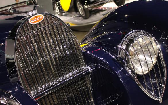 <p>Whatever the model, the common denominator in all Bugattis is its distinctive horseshoe radiator.</p>