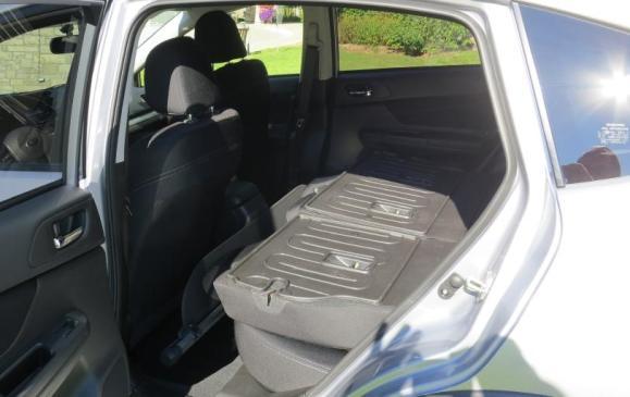 2013 Subaru Crosstrek - rear seatbacks folded