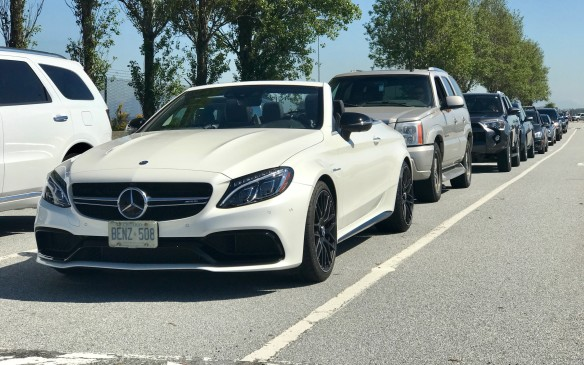 <p>A final flight over the Rockies and we landed in Vancouver and then drove to the ferry for the Island. This time, we were in the most powerful Mercedes of the journey – a 505-hp AMG C 63.</p>