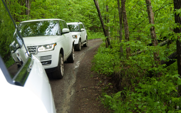 <p>When off-roading in convoy, always keep a vehicle in sight, preferably in your rear-view mirrors.  If you lose sight of the vehicle behind you, slow down or stop, and wait until you see it reappear. If the vehicle in front of you is doing the same (keeping an eye out for you) a chain reaction will happen up the convoy of vehicles. If your group is on a radio, it's a good idea to mention over the air that you have stopped and are waiting for the vehicle behind you to reappear.</p>