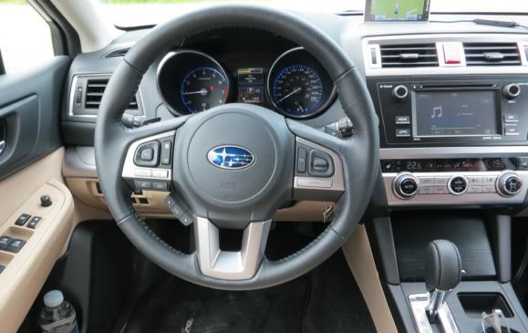 2015 Subaru Outback - steering wheel and instrument panel