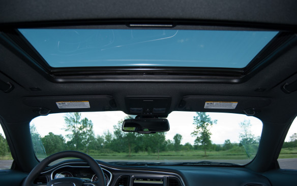 <p>Yes! Open up the sunroof/moonroof and take in some fresh air. There's also a privacy screen, so if you want some fresh air, without the sun – or wind pulling your hair out the roof – you can extend the privacy screen to protect you from sun/wind. It's a win/win!</p>