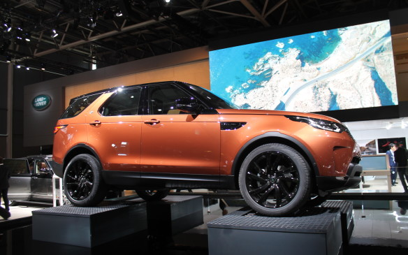 <p>Not so radical but definitely different from its predecesssor, Land Rover's new Discovery will be sold around the world. It was introduced at the show, though it was publicly revealed at a private party earlier.</p>