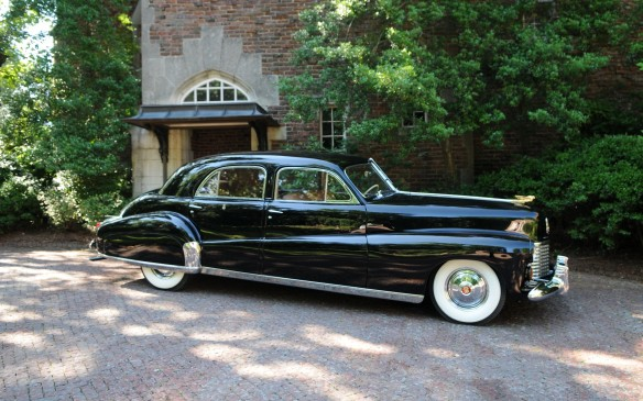 "<p>This 1941 Cadillac, called the ""Duchess,"" is a custom-bodied limousine, built by General Motors for England's King Edward after he'd abdicated the throne in 1936 to marry American socialite Wallace Simpson. </p>"