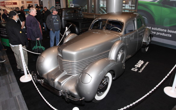 <p>This bullet-proof 1937 Cord was commissioned by the then-Governor of Louisiana, Huey Long, but he was shot before he could drive it. Neither of the subsequent two owners drove it, either, leading it to be called the 'Cursed Cord.' It had been in storage 75 years before a full restoration was performed by 360 Fabrication, and it made its public debut at the Vancouver show.</p>