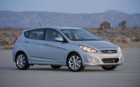 <p>Hyundai's accent was the small car winner, followed by the Kia Rio and Chevrolet Sonic.</p>