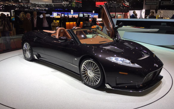 <p>While its Saab dreams may be dead and buried, Dutch sports car maker Spyker keeps on going. It has deployed a Koenigsegg-developed 592-hp V-8 in this C8 Preliator Spyder, which was revealed at Geneva. It is said to accelerate from 0-to-100 km/h in 3.7 sec and reach a top speed of 323 km/h (201 mph).</p>