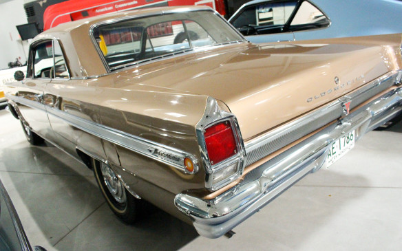 <p>Even more historically significant, this 1963 Jetfire variant of Oldsmobile's mid-size F-85 model, was the first production vehicle to feature a turbocharged engine when it was introduced as a 1962 model – beating Chevrolet's Corvair Monza Spyder to market by a few weeks.</p>