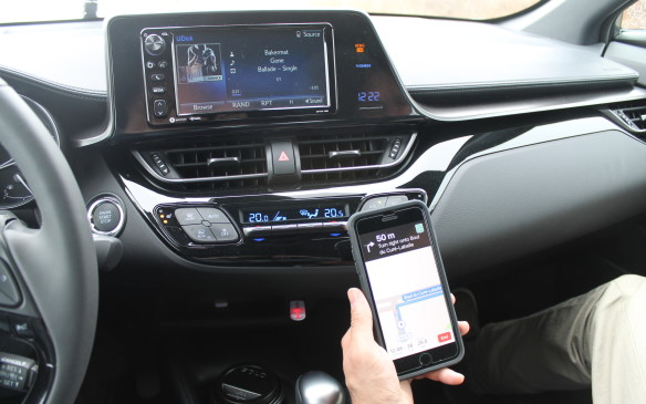 <p>There's no Navigation available, so if you need to follow a digital map, you'll have to stick your phone to the windshield with an aftermarket suction holder, or have your passenger hold onto it. This doesn't help get the phones out of young drivers' hands.</p>
