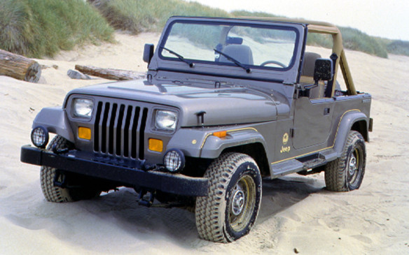 <p>Finally, in 1987, the Wrangler was introduced on a new YJ platform. Known just as the YJ in Canada for trademark reasons, it was a more comfortable, better-equipped compact Jeep than the CJs. This is the 1988 Wrangler Sahara.</p>