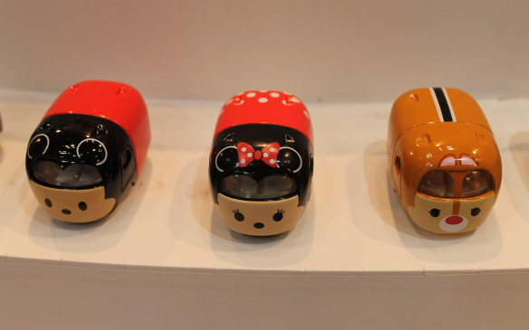 <p>Even Disney characters, Mickey Mouse, Minnie Mouse and Alvin the Chipmunk are represented with a Tomica toy.</p>