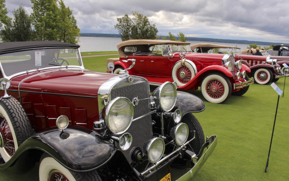 <p>The Georgian Bay backdrop for Classics such as the 1931 Cadillac, 1932 Packard and 1932 Cadillac shown here, rivaled that of Pebble Beach.</p>