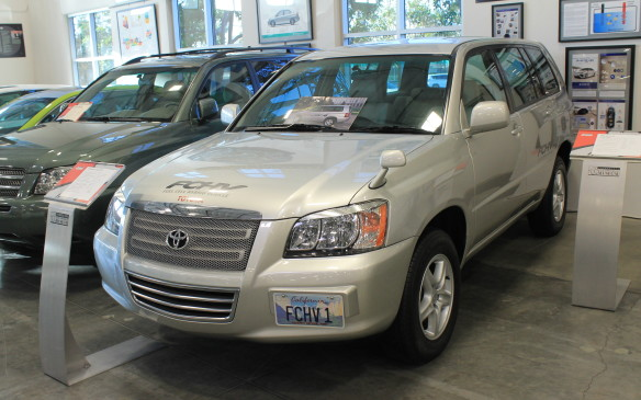 <p>No Toyota collection would be complete without representatives of its hybrid and alternative fuel technologies. There are Priuses and the first Camry Hybrid, as well as this 2002 hydrogen-powered Highlander.</p>
