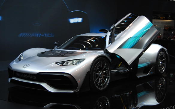 <p>The auto show floor is full of ideas, creations and prototypes just waiting to become actual saleable vehicles for Canadian consumers, like thisProject One Hypercar from Mercedes-Benz. With a top speed of 350 km/h, and 1,000 hp rocketing the car from 0-200 km/h in less than six seconds, Mercedes-AMG says only 275 will be available for sale.</p>