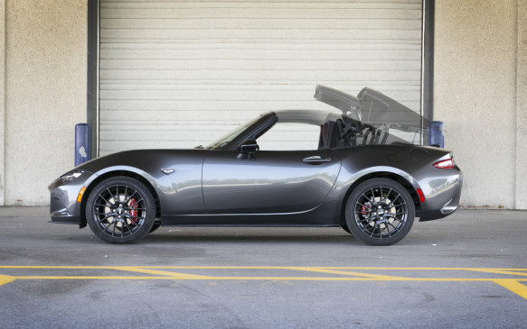 <p>While most people seem to be falling all over themselves for Mazda's new-fangled retractable Targa-top MX-5 RF, I'll go as far as conceding that it's a good-looking car thanks largely to those distinctive mini flying buttresses (which create nasty blind-spots, by the way), but its tiny size makes its proportions almost cartoon-like.</p>