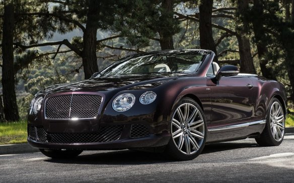 <p><strong>2015 Bentley GT Speed Convertible – </strong>Not only is the Bentley GT Speed Convertible one of the most luxurious and expensive vehicles at the show – at least among those you can buy – it's also one of the fastest drop-tops around, maxing out zt over 320 km/h. That's all thanks to an uprated 6.0-litre twin-turbocharged W-12 engine with 626 horsepower and all-wheel drive, which also helps it get up to highway speeds in the low four-second range.</p>
