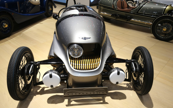 <p>Definitely on th bizarre side of the ledger is the Morgan EV3, which inherits its ancstral Morgan lines but is powered by a 41.8 kW electric motor with a range of 193 km and is said to have a 0-t0-100 km/h time of 9 seconds.</p>