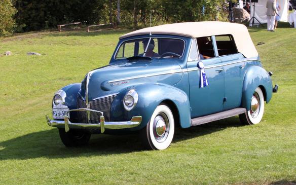 <p>The class winner was this Canadian-built 1940 Mercury Sedan Convertible.</p>