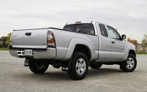 <p>Most Tacomas come with Toyota's proven 4.0-litre V-6 engine, rated at 236 horsepower, and a five-speed automatic transmission with four-wheel drive optional. Two bed lengths and three cab styles – regular, extended and crew – are available making for a number of possible combinations. A 2011 V-6 4x4 Access Cab has an average asking price of $22,700, per CBB.</p>