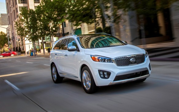 <p>The sleek, third-generation Sorento splits the size difference between the compact and intermediate SUV segments. It's offered in both front- and all-wheel-drive models and five- or seven-passenger configurations, with either a turbocharged four-cylinder or normally-aspirated V-6 engine.</p>