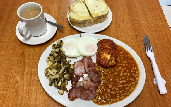 <p>After a proper British breakfast, we left the airfield and headed north to Cambridge.</p>
