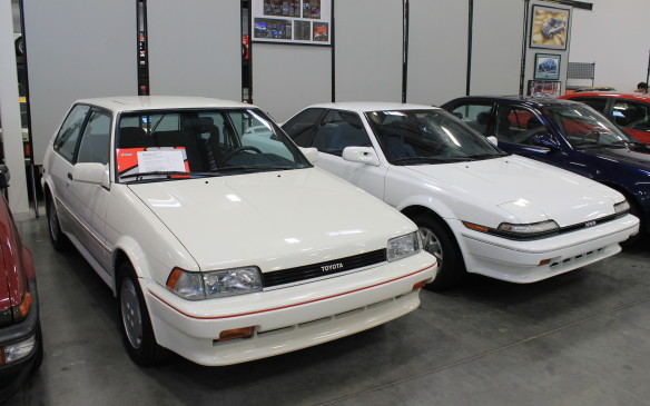 <p>And then there's the mainstay of the brand – the trusty compact Corolla, built for years in Japan before production began in the U.S.A. The white car in front is Serial Number 1, the first Corolla to be built in California at the NUMMI assembly plant. A year later, Corolla production began in Canada as well, at a new Toyota Motor Manufacturing Canada (TMMC) plant in Cambridge, Ontario.</p>