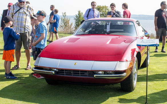 <p>Few cars draw a crown like a Ferrari Daytona!This one was also the winner of the special Chairman's Award.</p>